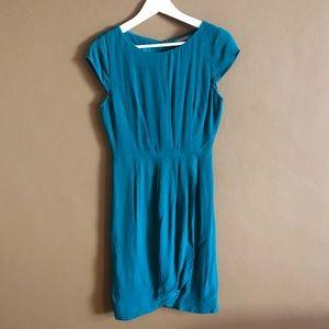 Tinley Road Teal Crepe Dress